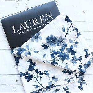 "Ralph Lauren Devan Floral Window Panels Drapes 96"""